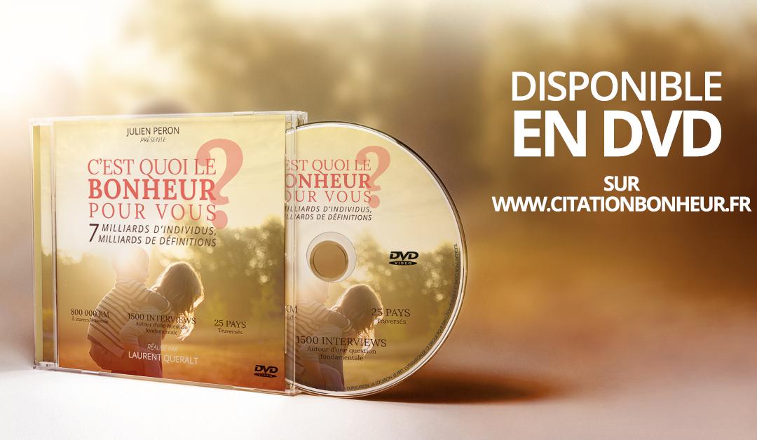 Le documentaire c'est quoi le bonheur pour vous est disponible en DVD