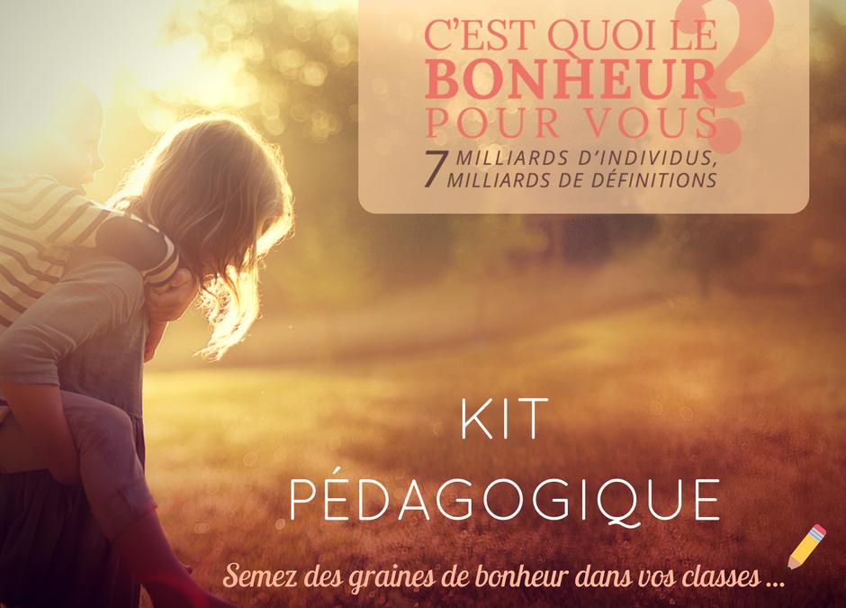 """Nouveau: Le kit pédagogique du film """"C'est quoi le bonheur pour vous?"""" est disponible"""