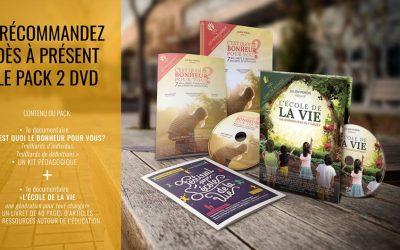Profitez du pack 2 DVD « C'est quoi le bonheur pour vous? » et  « L'école de la vie une génération pour tout changer » !