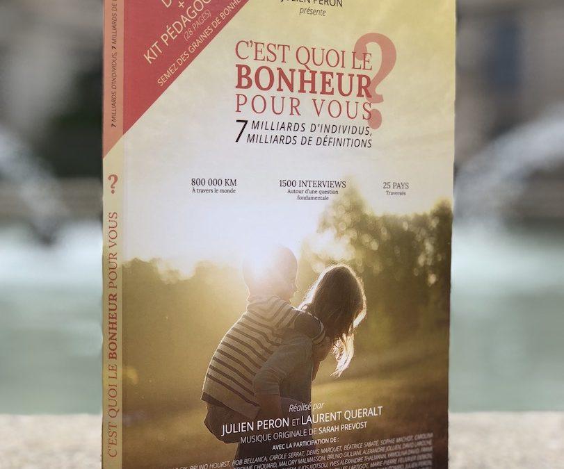 Tournée en Belgique du film C'est quoi le bonheur pour vous? en présence de Julien Peron