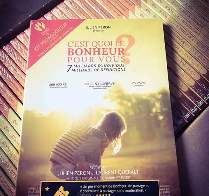 Le DVD C'est quoi le bonheur pour vous? avec les sous-titres en Français et en Anglais