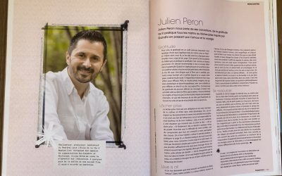 Julien PERON dans le magazine Happinez N°38