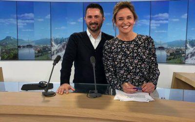 Julien Peron invité de Pauline Alleau sur France 3 pour le film C'est quoi le bonheur pour vous?