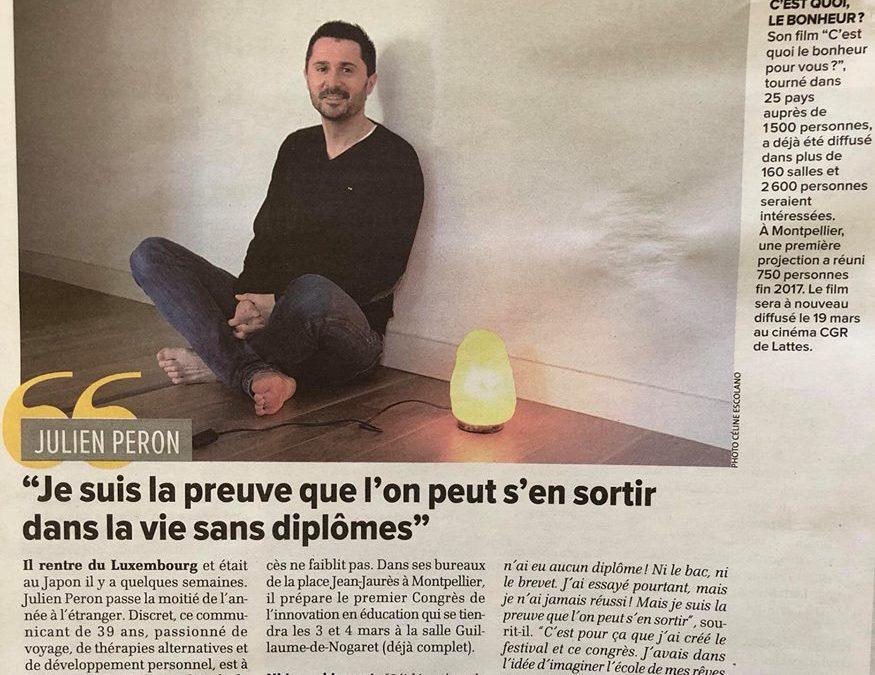 Julien Peron, réussir sans diplôme c'est possible